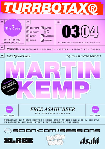 TURRBOTAX March 2010 Flyer Martin Kemp Blunted Robots