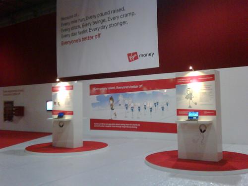 Virgin Money Giving at the Virgin London Marathon Expo