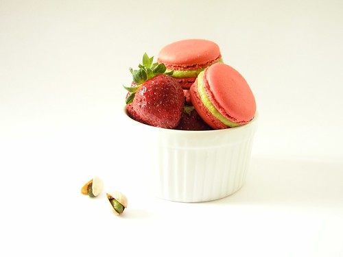 Strawberry Pistachio Macarons - 1