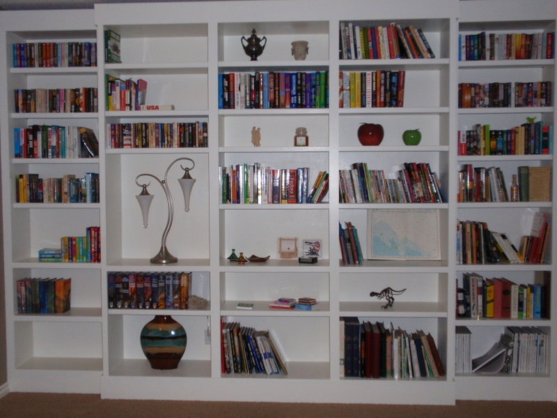 Filled bookcases