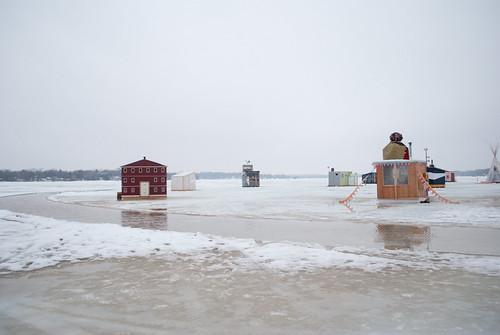 art shanties in water