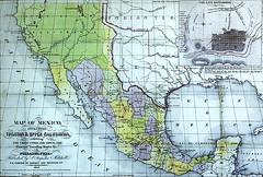 Mapa de México en 1847