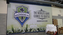 Seattle Sounders FC Sign at Qwest Field
