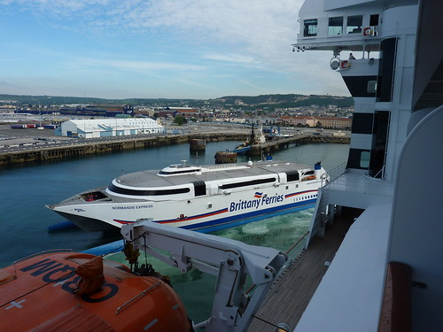 Brittany Ferries at Cherbourg France Docks