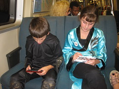 Playing DS on BART on the way home