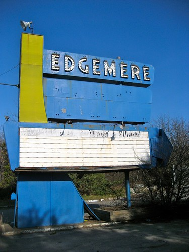Edgemere Drive In Sign