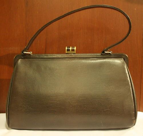 Vintage Handbag Brown Leather