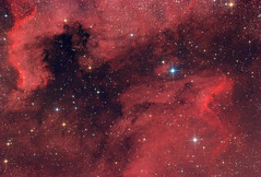 Pelican Nebula with North America