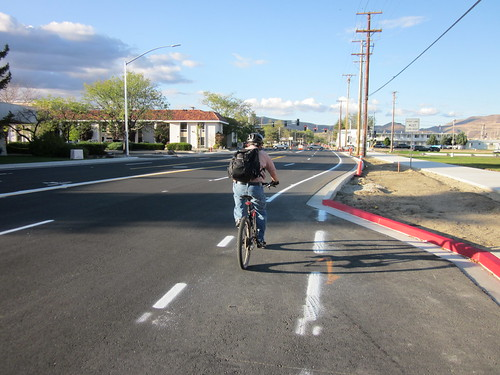 New Bike Lanes on Roop Street