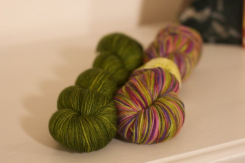 Madeline Tosh and Fiber Optic Sock Yarns