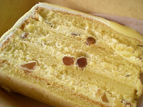 White choc macadamian cake