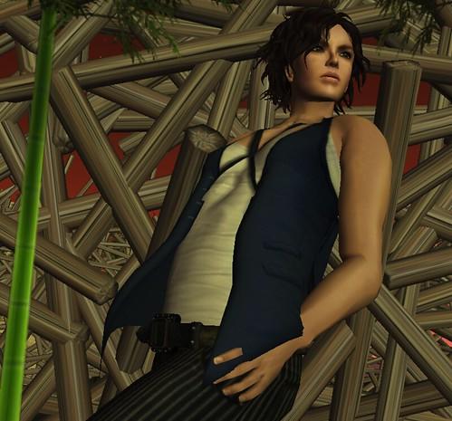 Among the bamboo