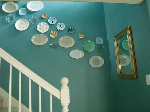 Plate wall downstairs