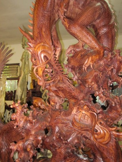 Bali Dragon Carving
