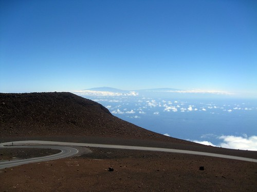 the big island, from the summit of haleakala