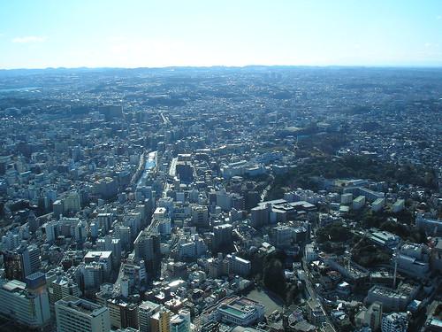 View of Yokohama from the Landmark Tower
