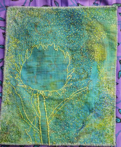 cardoon flower embroidery