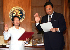 Gloria Arroyo and Renato Corona