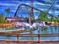 Cedar Point - Shoot the Rapids HDR