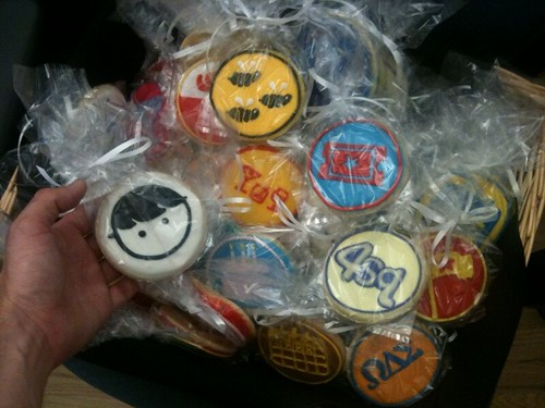 OMG. My mom (@murieloliv) got me @foursquare badge cookies for my birthday!