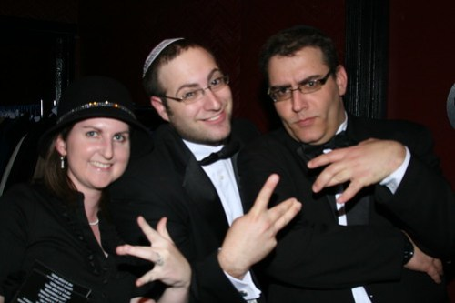 Rachel & Rabbi Drew along with CK manually representing their geographical location
