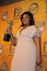 Mo'Nique, winner of the 2010 SAG award for Out...