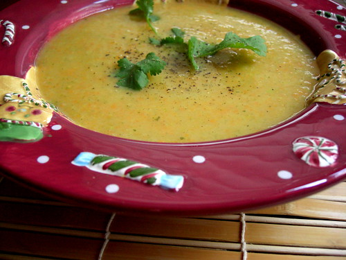 Carrot-ginger puree soup