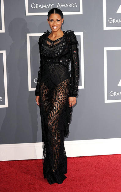 Singer Ciara arrives at the 52nd Annual GRAMMY Awards held at St
