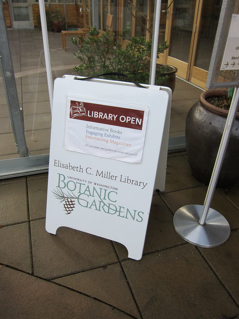 "Miller Library ""Open"" Sign"