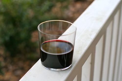 a favorite wine glass