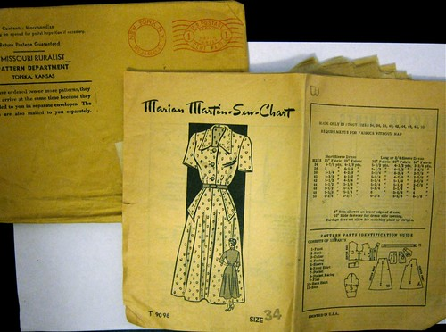 Vintage Marian Martin Mail Order Pattern T 9096 Dress
