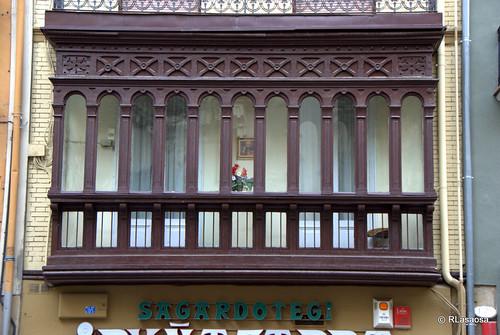 Mirador de una vivienda en la calle Mercaderes