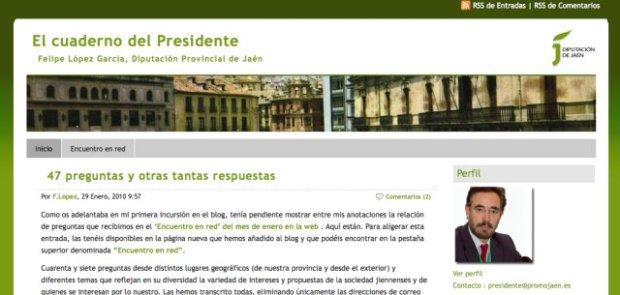 El cuaderno del Presidente. El blog de Felipe López
