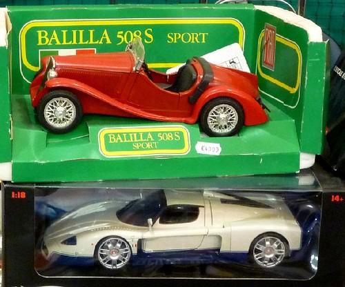Balilla Polistil e Maserati Mattel: due sportive d\'epoche diverse