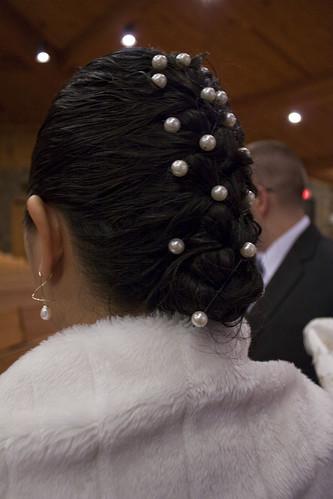 Jane's wedding hair