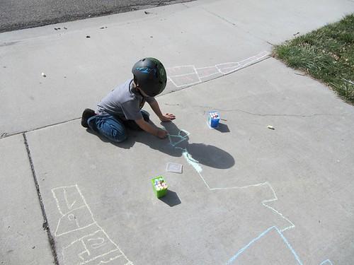 Sidewalk Chalk Jay