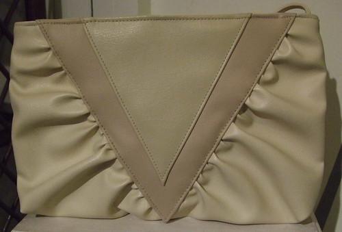 Vintage Handbag Cream Triangles