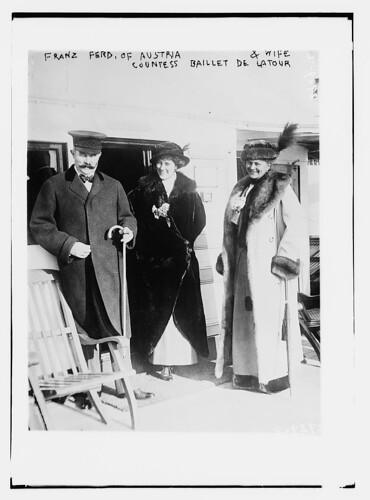 Franz Ferdinand of Austria and wife; Countess ...