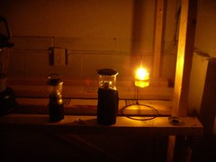 Olive oil cabin lamp