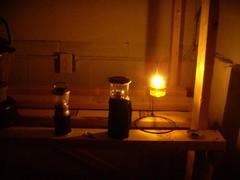Olive oil cabin lamp