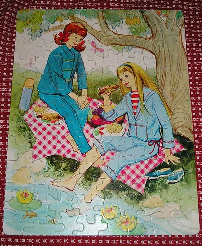 Skipper and Skooter Puzzle- Vintage