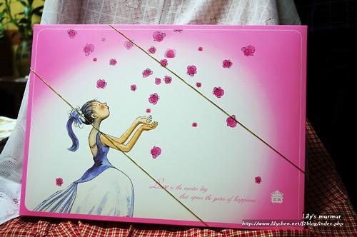 義美幸福花嫁喜餅盒外觀。