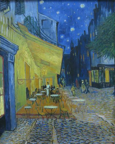 Terrasse de café la nuit (Place du Forum), c 16 sept 1888, hst