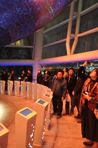 台灣館-山水心燈的點燈儀器