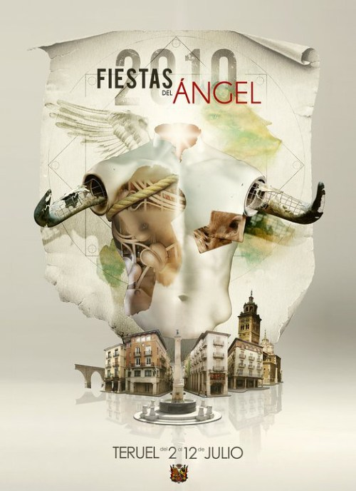 Cartel de las fiestas de La Vaquilla del Ángel 2010