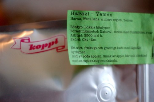 Harazi - kaffe från Yemen