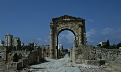 Monumental Arch at Ancient City of Tyre, Lebanon.