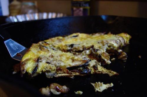 swiss mushroom frittata
