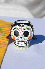 Sugar skull tealights for the reception tables