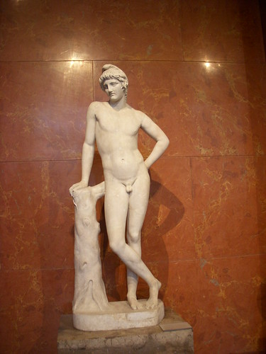 Naked Man in The Louvre